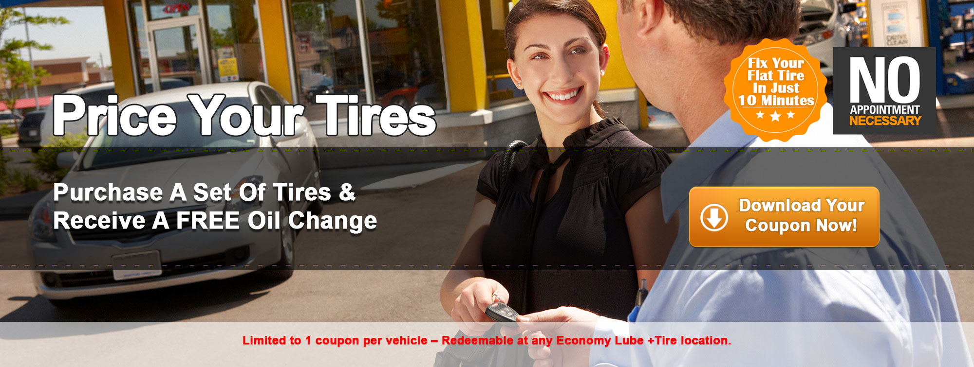 Economy Lube Full Tire Installation and Repair